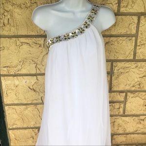 Ever Pretty White Flow Dress off shoulder Size 10